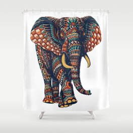 Ornate Elephant v2 (Color Version) Shower Curtain