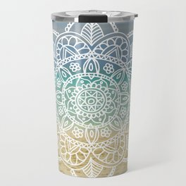 Beach Mandala Travel Mug