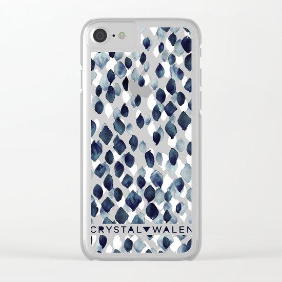Indigo Rain Clear iPhone Case