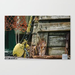 Tied Up To The Pylons Canvas Print