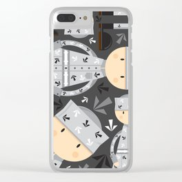 Cute Cartoon Prisoner Pattern Clear iPhone Case