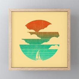 Go West (sail away in my boat) Framed Mini Art Print