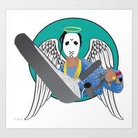asap rocky Art Prints featuring asap angels by TheArtGoon