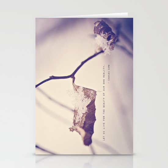 Live for the Beauty Stationery Cards