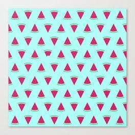 Watermelon Turquoise Canvas Print