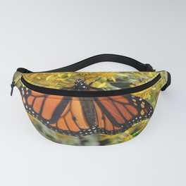 Monarch on Rubber Rabbitbrush Fanny Pack
