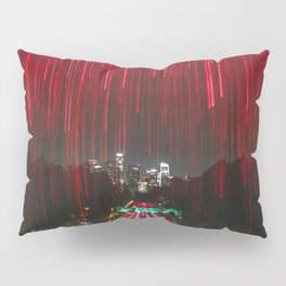 Lights and the LA Skyline at Night Pillow Sham