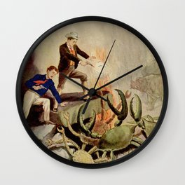 Giant crabs attack Wall Clock