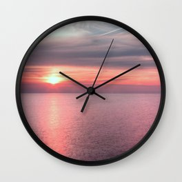 Norfolk summer sunset Wall Clock