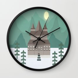 Night In The Mountains  Wall Clock
