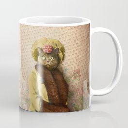 Lady Vanderkat with Roses Coffee Mug