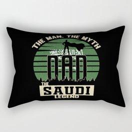 The Man The Myth The Saudi Legend Dad Rectangular Pillow