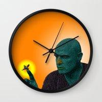 apocalypse now Wall Clocks featuring Apocalypse Now Marlon Brando by CultureCloth