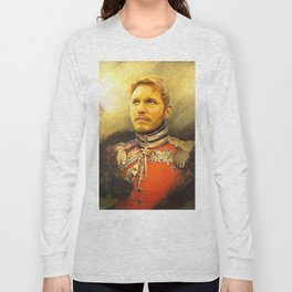 Starlord Guardians Of The Galaxy General Portrait Painting | Fan Art Long Sleeve T-shirt