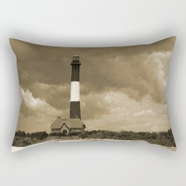 Fire Island Light In Sepia Rectangular Pillow
