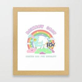 POW! Rainbow Goat Kicking Ass for Equality Framed Art Print