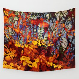 pluie d'automne/fall's rain Wall Tapestry