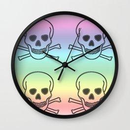 RINBOW SKULLS Wall Clock