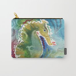 Watercolor sea horse painting Carry-All Pouch