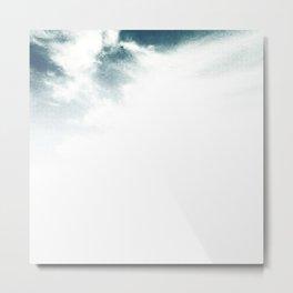 Halftone Clouds Metal Print
