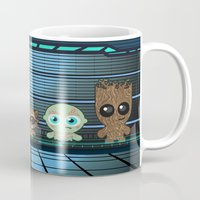 guardians of the galaxy Mugs featuring GUARDIANS OF THE GALAXY by Chris Thompson, ThompsonArts.com