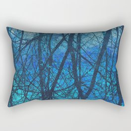 Connected blue Rectangular Pillow