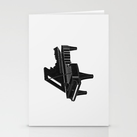 Music Is The Key B Stationery Cards