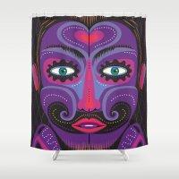 clown Shower Curtains featuring Clown by charker