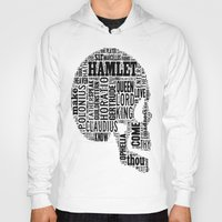 hamlet Hoodies featuring Shakespeare's Hamlet Skull by MollyW
