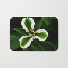 Green-striped White Trillium  (Disease can be beautiful) Bath Mat