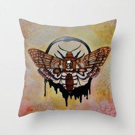 Death's Head Hawk Moth Throw Pillow