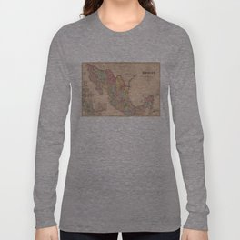 Vintage Map of Mexico (1859) Long Sleeve T-shirt