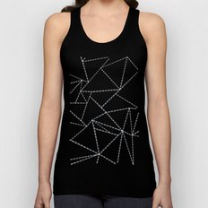 Abstract Dotted Lines Grey Unisex Tank Top