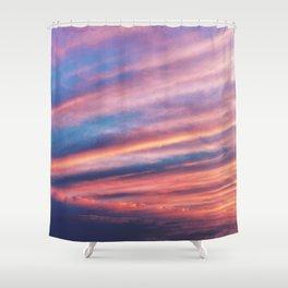 FIERY SUNSET, sky clouds nature Shower Curtain