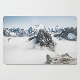 Mountain Tops Above Clouds And Snow Cutting Board