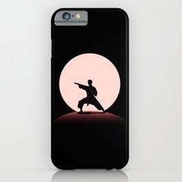 Karate Judo Martial Arts Full Moon Night iPhone Case