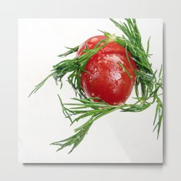 TOMATO AND DILL Metal Print