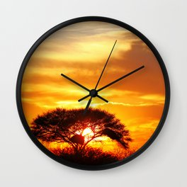 African sunrise Wall Clock
