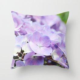 Light Purple Hydrangea Throw Pillow