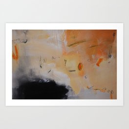 Rust black abstract art Art Print