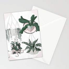 Plant Family Portrait for Plant Moms, Plant Ladies, and Plant Parenthood Stationery Cards