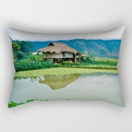 Mountain Village in Vietnam Rectangular Pillow