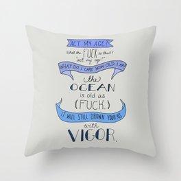 The Ocean..  Throw Pillow