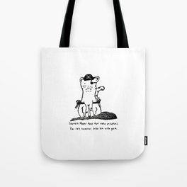 Captain Meow Tote Bag