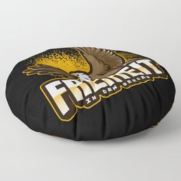 Freedom in the mountains Floor Pillow