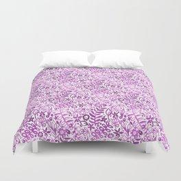 Purple flores II Duvet Cover