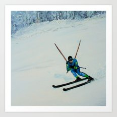 All Downhill Art Print