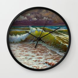 wild waves Wall Clock