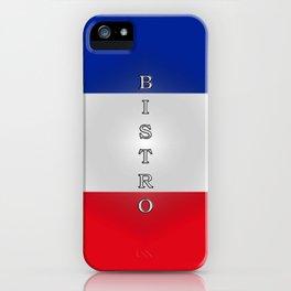 Tricolore Bistro iPhone Case