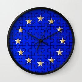 European Union Flag Jigsaw Wall Clock